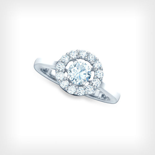 SILVER FLOATING CZ RING