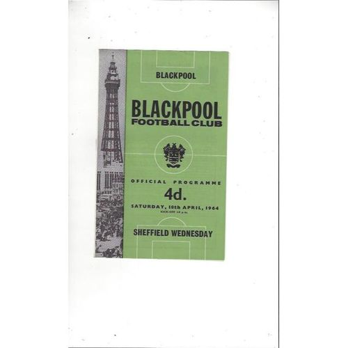 1963/64 Blackpool v Sheffield Wednesday Football Programme