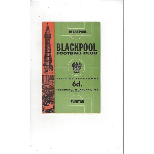 1965/66 Blackpool v Everton Football Programme