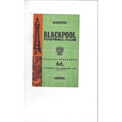 1966/67 Blackpool v Arsenal Football Programme