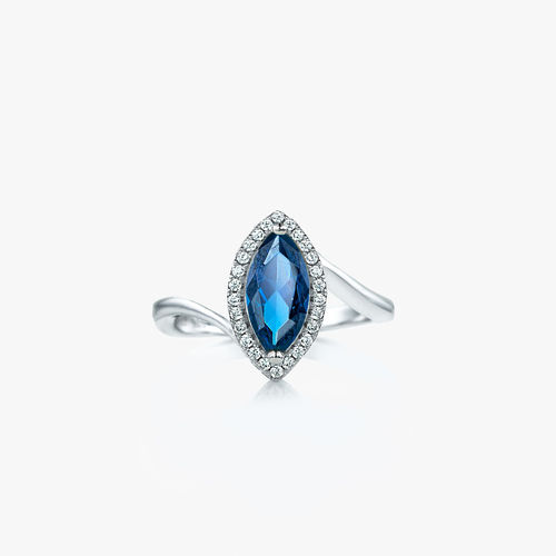 SILVER MARQUISE RING