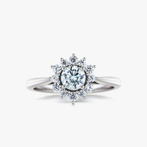 SILVER CZ CLUSTER RING