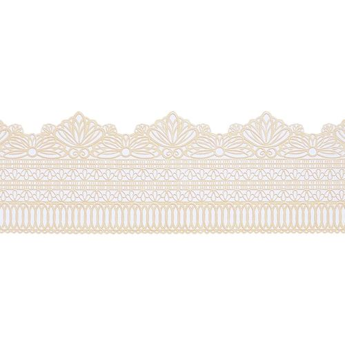 Ready Made Cake Lace: Serenity Straight Edge