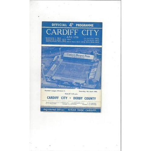 Cardiff City v Derby County 1963/64