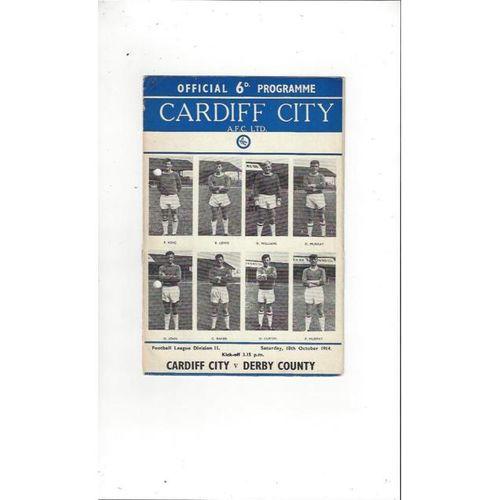 Cardiff City v Derby County 1964/65