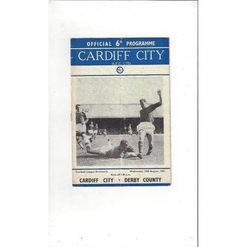 Cardiff City v Derby County 1965/66