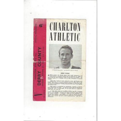 Charlton Athletic v Derby County 1960/61