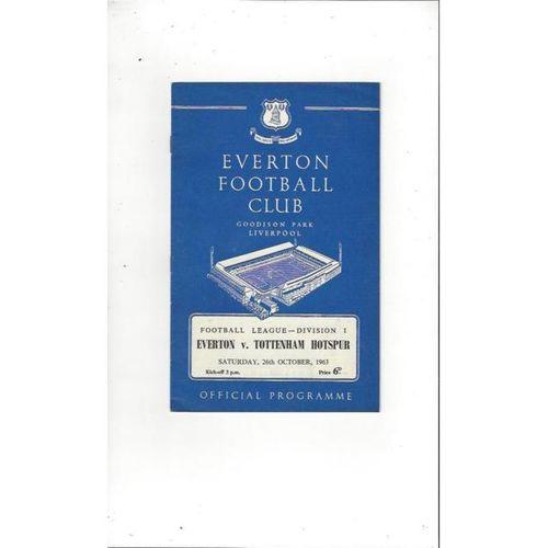 1963/64 Everton v Tottenham Hotspur Football Programme