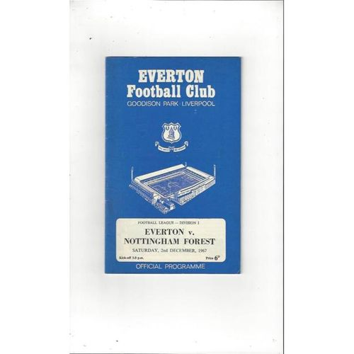 Everton v Nottingham Forest 1967/68 + League Review