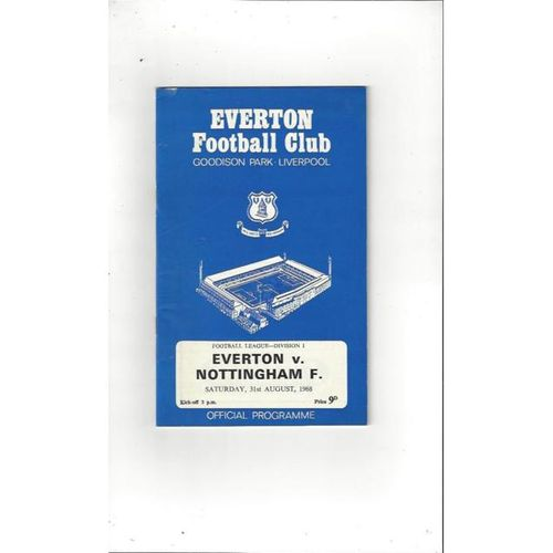 Everton v Nottingham Forest 1968/69 + League Review
