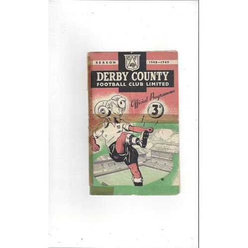 1948/49 Derby County v Preston Football Programme