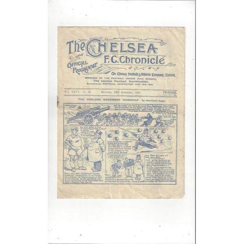 1930/31 Chelsea v Arsenal Football Programme