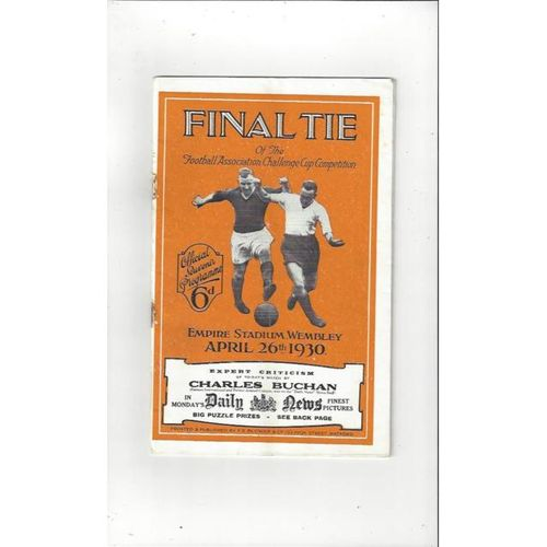 1930 Arsenal v Huddersfield Town FA Cup Final Football Programme