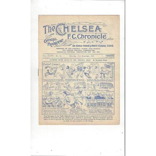 1931/32 Chelsea v Arsenal Football Programme