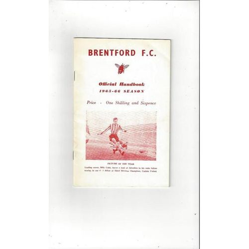 Brentford Official Handbook 1965/66