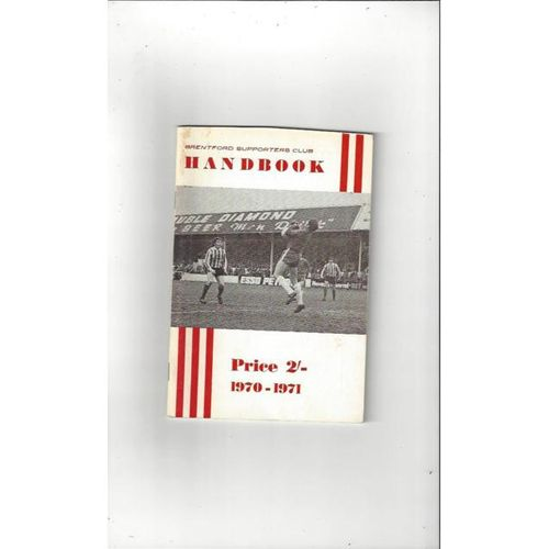 Brentford Supporters Handbook 1970/71