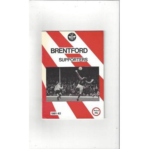 Brentford Supporters Handbook 1981/82