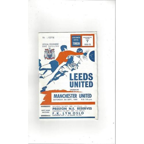 Leeds United v Manchester United 1969/70 + League Review