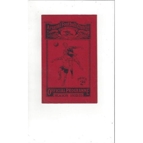 1932/33 Arsenal v Chelsea Football Programme, Brochure & Insert Opening of West Stand