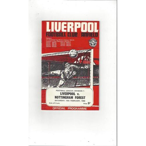 Liverpool v Nottingham Forest 1968/69