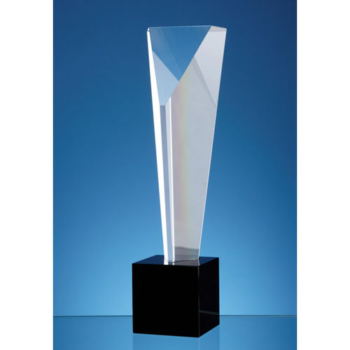 Optical Crystal Triangular Column Award 26.5cm