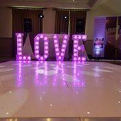 Starlit Dancefloor, Wedding Backdrop, Wedding Entertainment