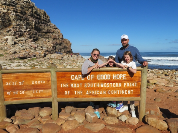 Four have fun in Cape Town