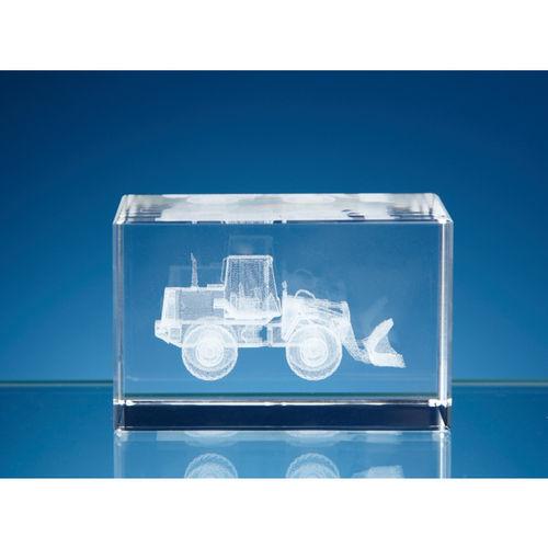 3D Bulldozer in Optical Crystal Block