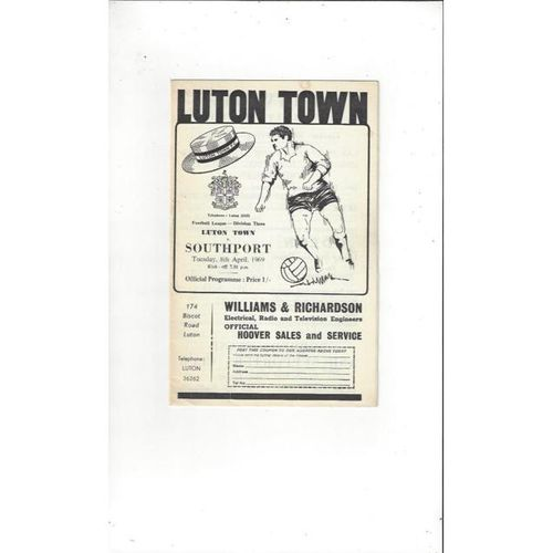 Luton Town v Southport 1968/69