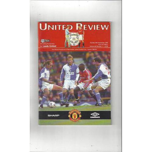 1998/99 Manchester United v Leeds United Football Programme