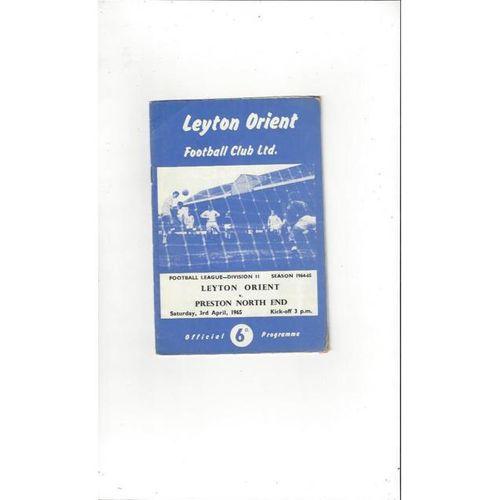 Leyton Orient v Preston 1964/65