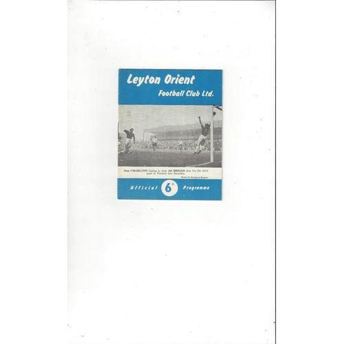 1961/62 Leyton Orient v Plymouth Argyle Football Programme