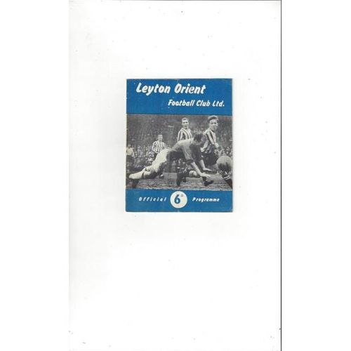 1961/62 Leyton Orient v Walsall Football Programme