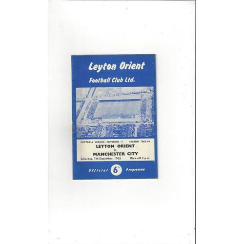 Leyton Orient v Manchester City 1963/64