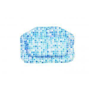 blue mosaic bath pillow