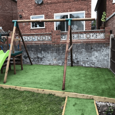 A high quality and durable artificial grass play area