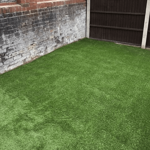After the installation of PermaLawn's 35mm Kedleston artificial grass