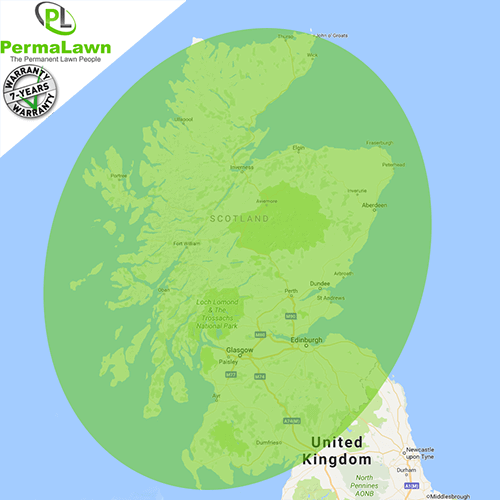 PermaLawn delivery locations within Scotland