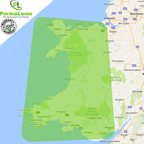PermaLawn delivery locations within Wales