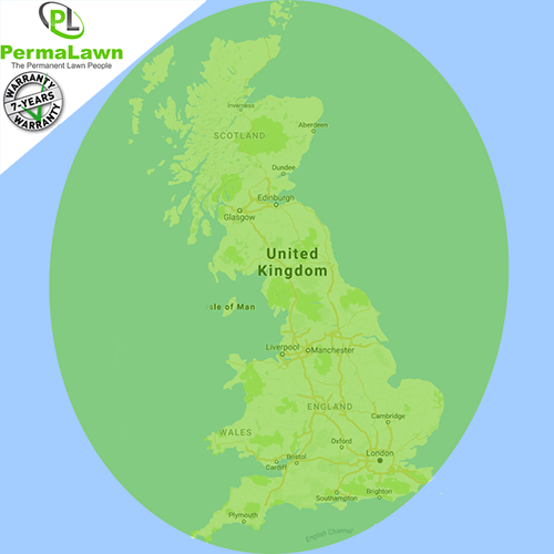 PermaLawn's UK delivery locations