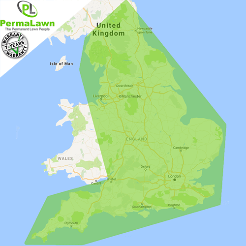PermaLawn delivery locations within England