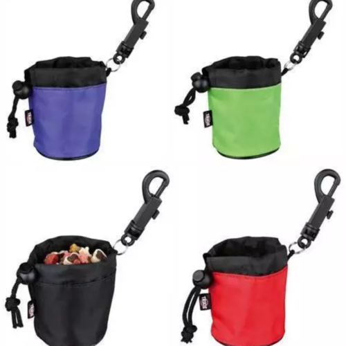 Mini treat training bag with clip attachment