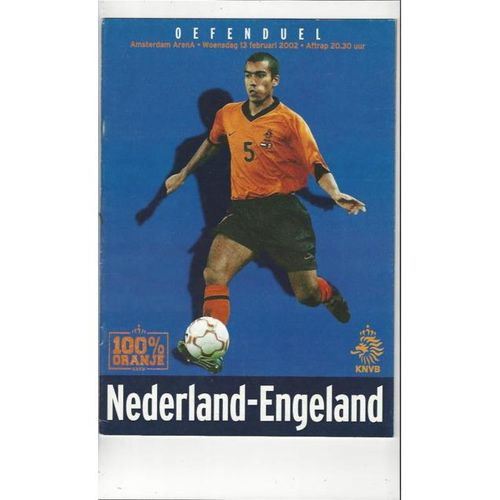 2002 Holland v England International Football Programme