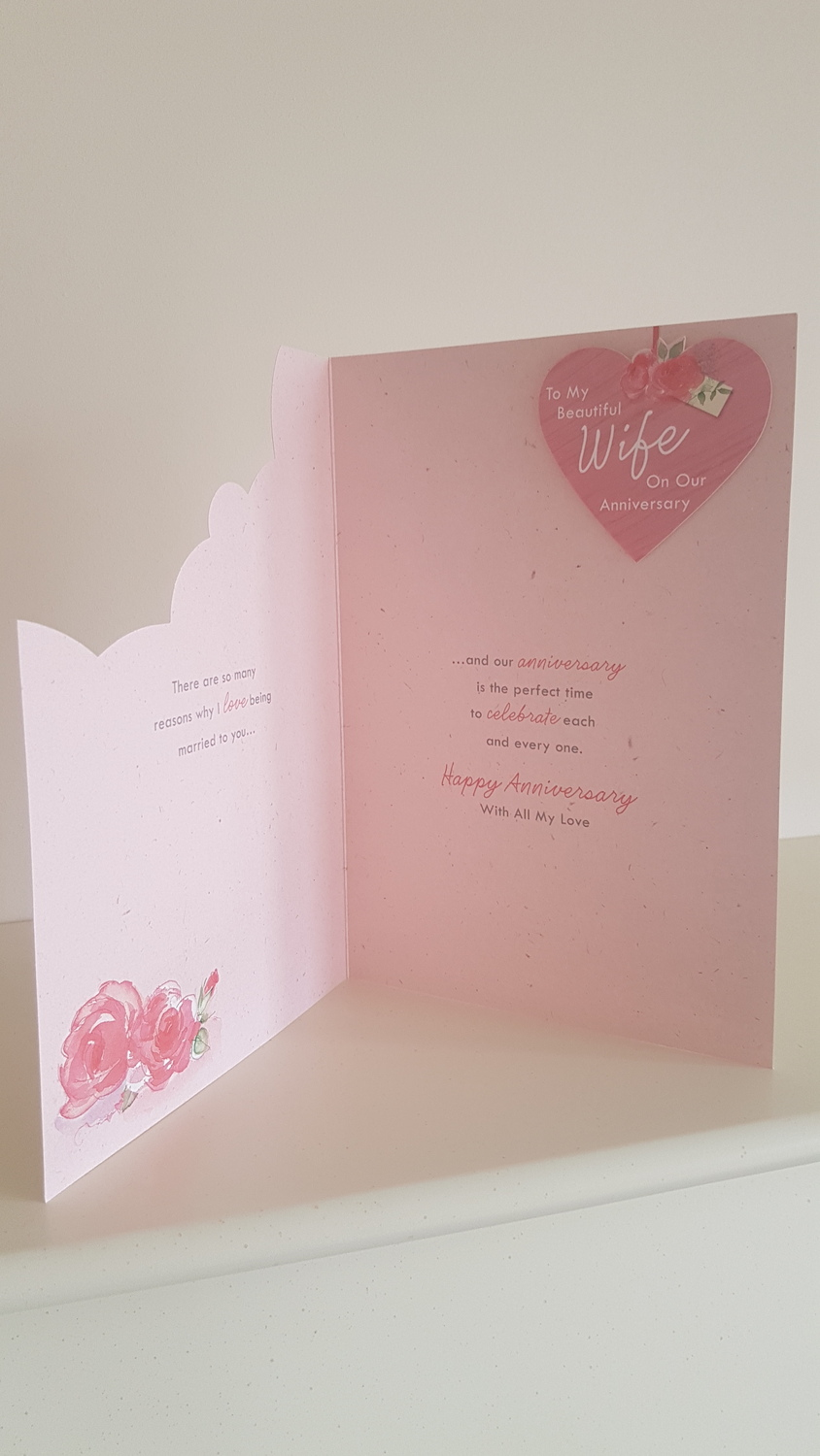 Beautiful Wife Anniversary Card Remember That Card Greeting