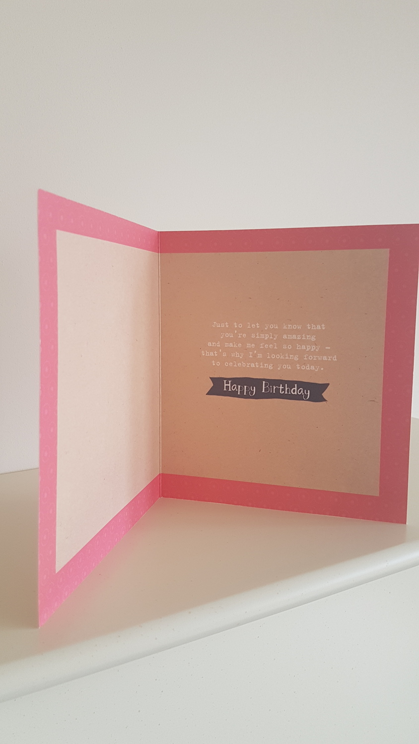 Girlfriend Pink Flowers Birthday Card