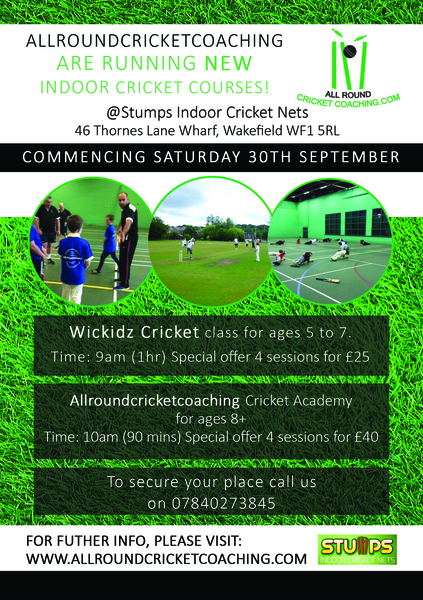 Launch of our Yorkshire indoor courses at Stumps Wakefield