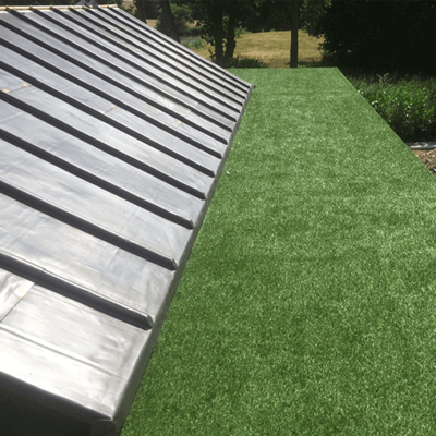 Malins Roofing artificial grass installation