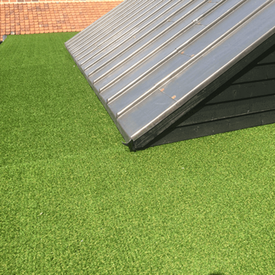 27mm Haddon artificial grass green roof alternative by Malins Roofing