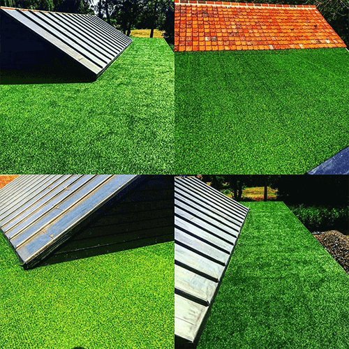 Malins Roofing installation of 27mm Haddon artificial grass