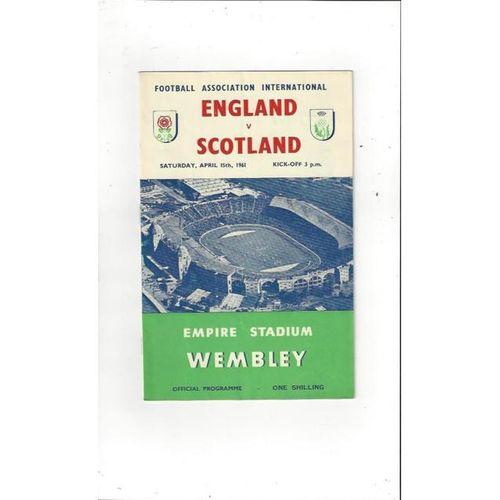 England v Scotland 1961